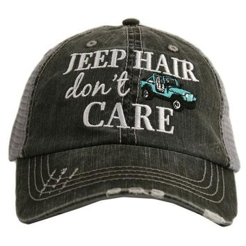 Katydid Jeep Hair Don't Care Trucker Hat - 4 Color Choices