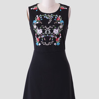 Oleander Embroidered Dress By Tulle
