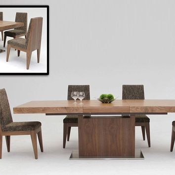 Modrest Zenith - Modern Walnut Extendable Dining Table