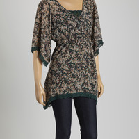 Green Floral Tunic