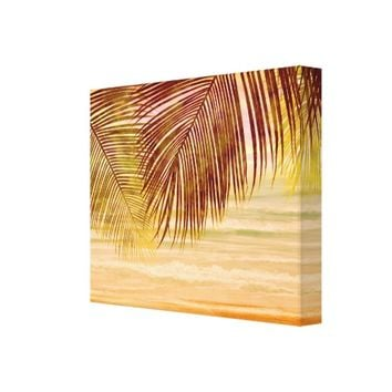 Beautiful Nature Tropical Island Wrapped Canvas