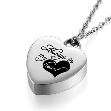 Heart Perfume Bottle Bone Ash Pendants Necklace