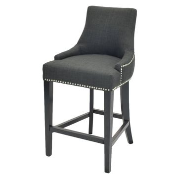 Eckhard Fabric Counter Stool Charcoal