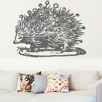 Hedgehog Animal Vinyl Decals Wall Sticker Art Design Living Room Modern Bedroom Nice Picture Home Decor Hall  Interior ki747