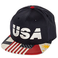 10 Deep The USA Snapback Hat in Navy : Karmaloop.com - Global Concrete Culture