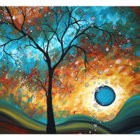 Aqua Burn Giclee Print by Megan Aroon Duncanson at Art.com