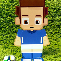 Italy football soccer craft activity. Printable paper toy. Instant download. Make you own cards, banners and football soccer bunting!