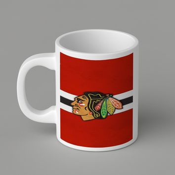 Gift Mugs | Chicago Blackhawks (Logo) Iphone 6 Ceramic Coffee Mugs