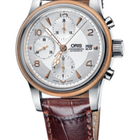 Oris 01 674 7567 4361-07 5 21 52 Men's Watch Big Crown Chronograph Brown Leather Strap Swiss Made