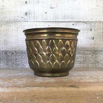 Brass Planter Brass Plant Pot Garden Container Brass Flower Pot Mid Century Planter Outdoor Planter Indoor Planter Brass Wedding Decor