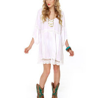 Billabong Luv Yourself Dress - White Dress - Shift Dress - $56.00