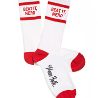 Beat It, Nerd! Socks