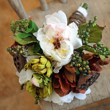 Woodland Rustic Chic Wedding Bouquet
