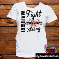 Uterine Cancer Warrior Fight Strong Shirts (Endometrial Cancer)