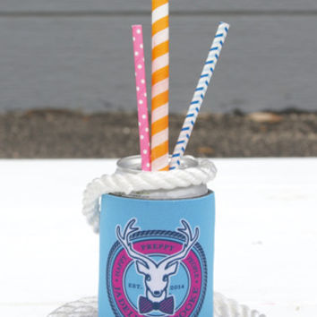 Koozie - Popsicle Blue Signature Rope Logo