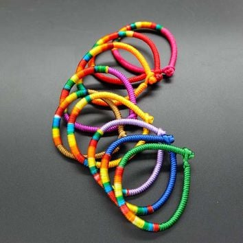 Handmade knot bracelets for women  Men Kabbalah Colorfull String Bracelet