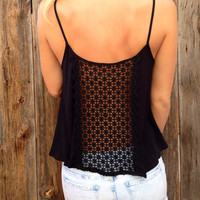 Crochet Back Swing Top