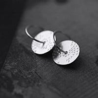 Sunset starlings silver disc earrings
