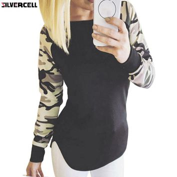 Fashion Women Camouflage Tactical T-Shirts Long Sleeve Fitness Military Uniform Combat Clothing Hunt  Tee Tops