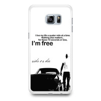Dominic Toretto Quotes Samsung Galaxy S6 Edge Plus Case