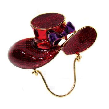 Red Hat Pin with Eye Glass Holder
