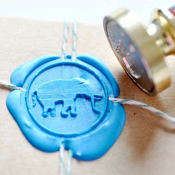 Elephant Gold Plated Wax Seal Stamp x 1