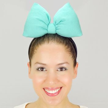 Big Minnie Mouse Bow Headband - Tiffany