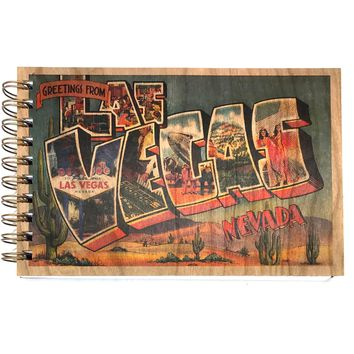 Wood Bound Journal Greetings Las Vegas