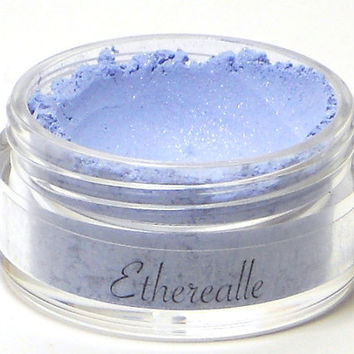"Blue Shimmer Eyeshadow - ""Yuna"" - frosty light powder blue/baby blue - Vegan Mineral Eyeshadow Net Wt 2g"
