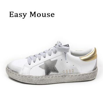 Star Dirty Do Old Shoes Zapatillas Hombre Deportiva Designer Trainers Lightweight Zapatillas For Ladies Golden Pu Leather Shoes