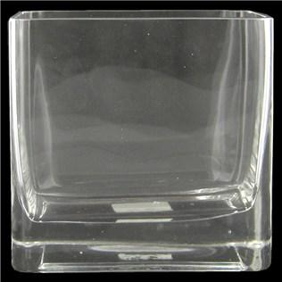 """6"""" Clear Rectangle Glass Vase"""