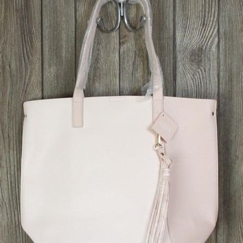 Nice Ulta Beauty New Tote Bag Light Pink Faux Leather Carry All Shopper Handbag