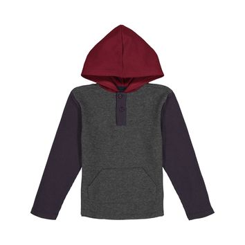 Colorblocked Hooded Henley