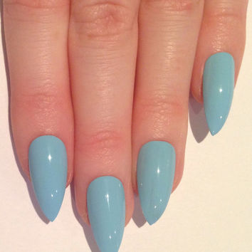 Baby Blue Stiletto Nails Nail Designs From Prettylittlepolish