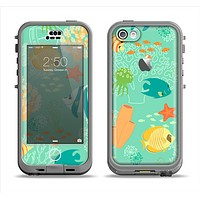The Colorful Bright Saltwater Fish Apple iPhone 5c LifeProof Nuud Case Skin Set