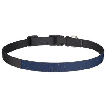 Patriotic dog collar with Flag of Alaska State