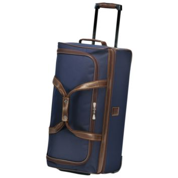 Expandable plumber's bag with wheels - Boxford - Luggage - Longchamp - Blue - Longchamp United-States