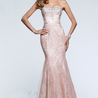 Long Evening Gown with Delicate Lace Details l Faviana - Prom Dresses 2015 -