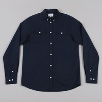 Norse Projects Benno Fairisle Jacquard Shirt - Dark Navy