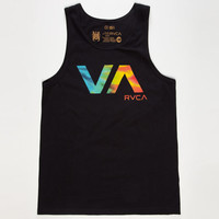 Rvca Va Tie Dye Mens Tank Black  In Sizes