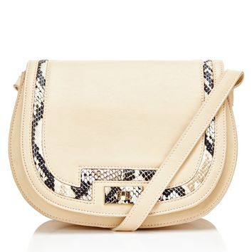 Lydc Saddle Bag With Snakeskin Trim