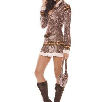 Arctic Princess - 2 Pc. Costume (X-Large,Taupe)