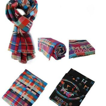 DCCK7HE Perfect Hermes Multicolor Women Fashion Winter Accessories Sunscreen Cape Scarves Scarf