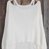 Cupshe Still Love You Off the Shoulder Sweater