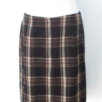 90's Plaid Skirt School Girl Skirt Grunge Skirt Vintage Plaid Skirt 1990's Minimalist Clothing