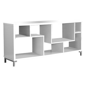 Monarch Specialties Hollow-Core TV Console - White