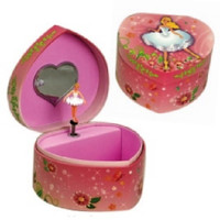 Music Box Kingdom Ballerina Jewellry Box In Heart Shape