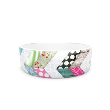 "Heidi Jennings ""Fabric Much?"" Colored Cloth Pet Bowl"