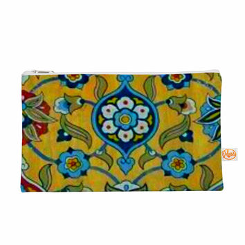"S Seema Z ""PERSIAN MOOD"" Yellow Blue Everything Bag"