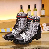 2020 latest LV Louis Vuitton leather boots shoes Fabrics are made of serpentine cowhide + cowhide, inner lining, sheepskin, heel height 4CM, SIZE:35-41.